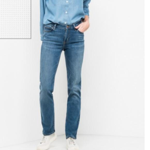 LEE Ladies Jeans Marion Straight blue denim size 8-10